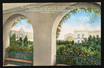Glimpse of San Joaquin Valley and Kern Counties Buildings and pipe organ in distance, Panama-California International Exposition, San Diego, Cal