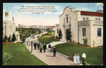 Vista from state building plaza, Montana on right and Washington on left, Panama-California International Exposition, San Diego, Cal