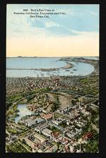 Bird's eye view of Panama-California Exposition and city, San Diego, Cal