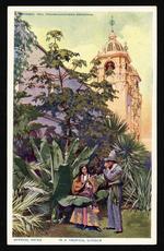 In a tropical garden