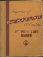 Origins of Utah place names