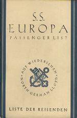 S.S. Europa passenger list