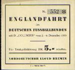 """Englandfahrt des Deutschen Fussballbundes mit D. """"Columbus"""" vom 2. - 6. Dezember 1935"""