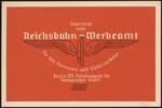 Überreicht vom Reichsbahn-Werbeamt für den Personen- und Güterverkehr