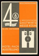 4. Westdeutsche Gastwirtsmesse Köln