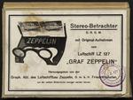 """Stereo-Betrachter D.R.G.M., mit Original-Aufnahmen vom Luftschiff LZ 127 """"Graf Zeppelin."""""""