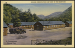 Civilian Conservation camp deep in the mountains